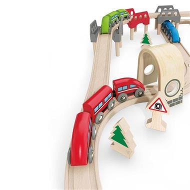 Grote foto hape treinset hoog laag e3701 kinderen en baby overige