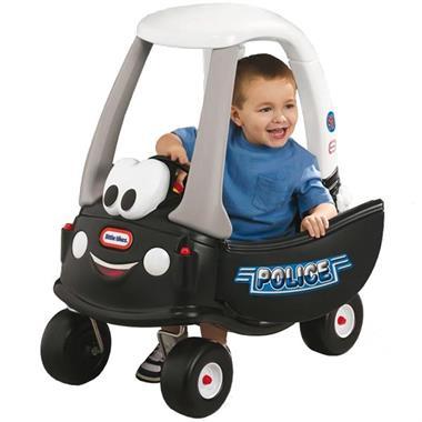 Grote foto little tikes loopauto patrol politieauto kinderen en baby los speelgoed