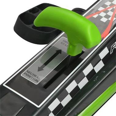 Grote foto vidaxl skelter met pedalen en verstelbare zitting groen kinderen en baby los speelgoed