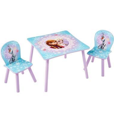 Grote foto disney tafel en stoelen set 3 delig frozen 63x63x45 cm worl2 kinderen en baby complete kinderkamers