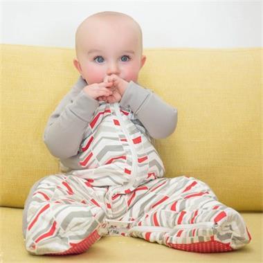 Grote foto sleepsuit organic cotton quilted red arrow 2.5 tog kinderen en baby overige