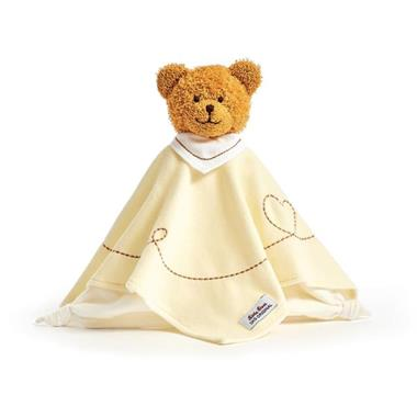 Grote foto k the kruse knuffeldoek bear caramel geel 0174921 kinderen en baby knuffels en pluche