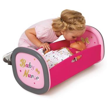 Grote foto smoby baby nurse wiegend ledikant 29x52x26 cm 220313 kinderen en baby speelgoed voor jongens