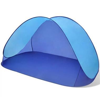 Grote foto vidaxl opvouwbare strandtent waterafstotend en met uv besch caravans en kamperen tenten