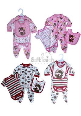 Grote foto 3 delige set monkey rood kinderen en baby overige