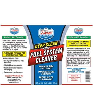 Grote foto lucas deep clean fuel system cleaner artikelnummer 10512 auto onderdelen overige auto onderdelen
