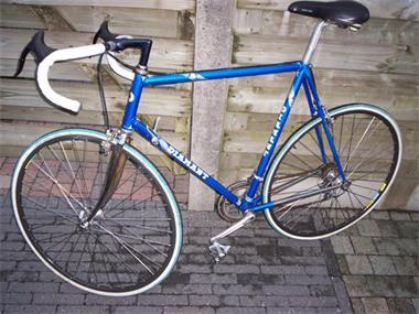 Grote foto retro fiets fietsen en brommers racefietsen