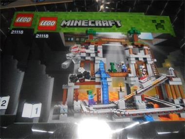 Grote foto lego minecraft boekjes 21118 kinderen en baby duplo en lego