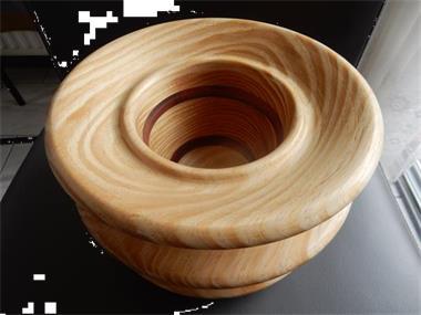 Grote foto houten bloempothouder hobby en vrije tijd houtbewerking