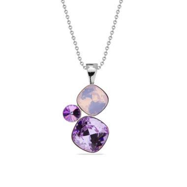 Grote foto spark jewelry ketting met paarse swarovski kristallen hanger kleding dames sieraden