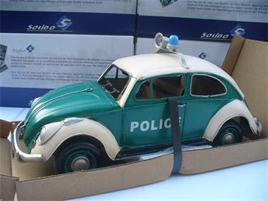Grote foto tinplate 1 12 vw volkswagen beetle police hobby en vrije tijd 1 5 tot 1 12