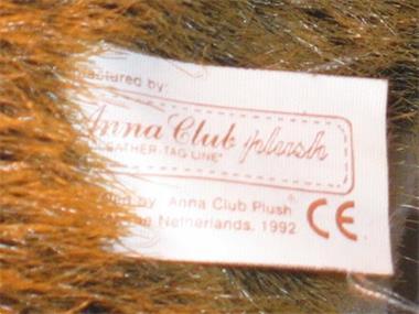 Grote foto egel anna club plush the leather tag line kinderen en baby knuffels en pluche
