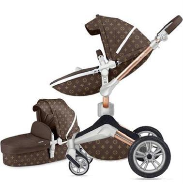 Grote foto 3 in 1 lederen hete moeder wandelwagen kinderen en baby kinderwagens