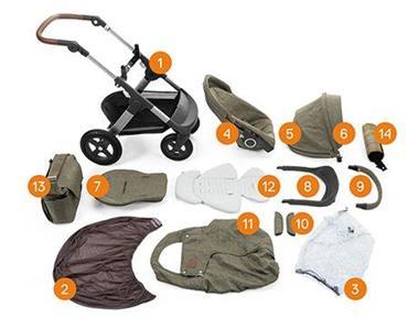 Grote foto stokke trailz exclusieve editie nordic green kinderen en baby kinderwagens