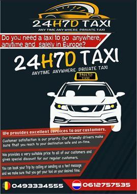 Grote foto 24h7d private taxi service diensten en vakmensen koeriers chauffeurs en taxi