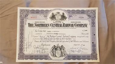 Grote foto aandeel northern central railway company 1964 postzegels en munten aandelen