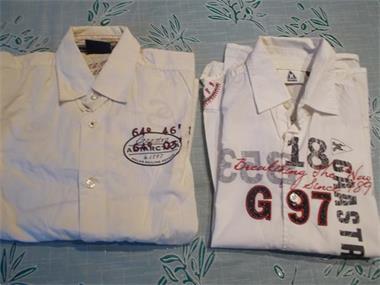Grote foto 2 hemden gaastra met bedrukking maat 140 kinderen en baby maat 140