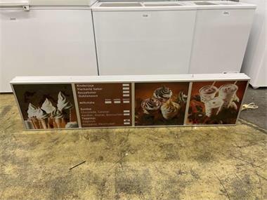 Grote foto verlicht prijsbord reclamebord lichtbak 160 cm horeca muziek en instrumenten overige muziek en instrumenten