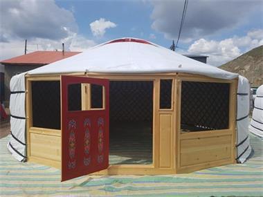 Grote foto luxe mongoolse yurts caravans en kamperen tenten