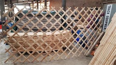 Grote foto houten muren voor mongoolse yurts diversen overige