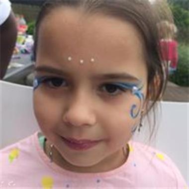 Grote foto grime glittertattoos diensten en vakmensen kinderen