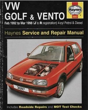 Grote foto vw golf 3 vento 1992 1998 werkplaatshandleiding auto diversen autosport onderdelen