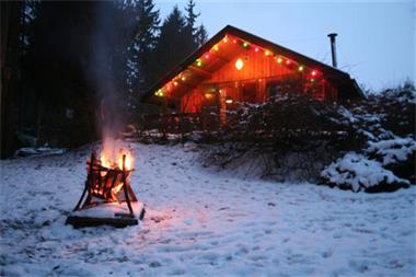 Grote foto fraai huisje huren barvaux durbuy ardennen vakantie belgi