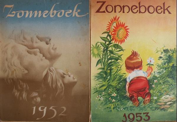 Grote foto zonneboeken kath.arbeidersbeweging 1952 1953. boeken geschiedenis wereld