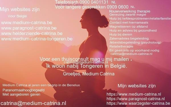 Grote foto paragnost medium catrina een begrip in de benelux paranormaal paragnosten