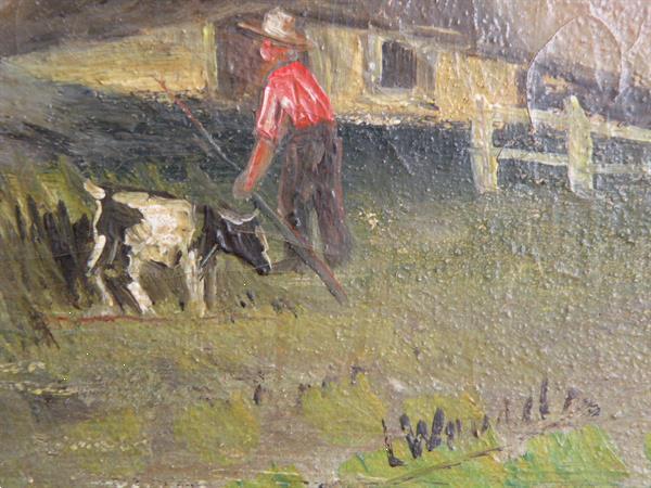 Grote foto schilderij van l. woudstra. 1868 1934. antiek en kunst klassiek