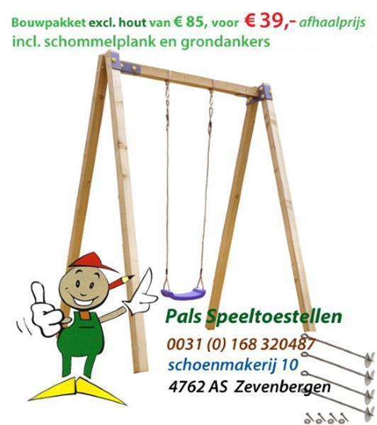 Grote foto schommel speeltoestel montagekit kinderen en baby speeltoestellen en speelhuisjes