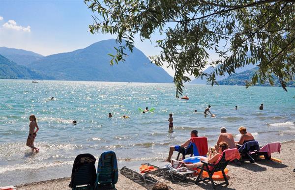 Grote foto italie prachtige chalets aan het luganomeer vakantie italie