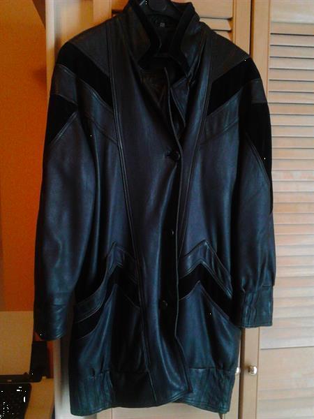 Grote foto ledervest vrouw kleding dames jassen winter