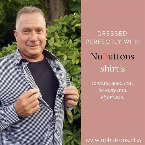 Grote foto senioren hemden met makkelijke sluiting. kleding heren overhemden