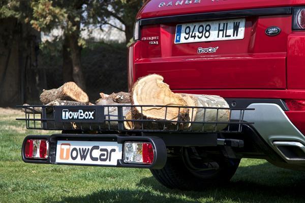Grote foto cargo towbox multi platform op trekhaak auto onderdelen trekhaken
