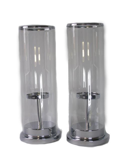 Grote foto kaarsen houders glas metaal huis en inrichting woningdecoratie