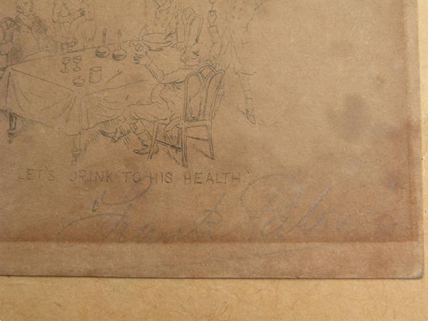Grote foto gravure van frank palou. antiek en kunst etsen en gravures