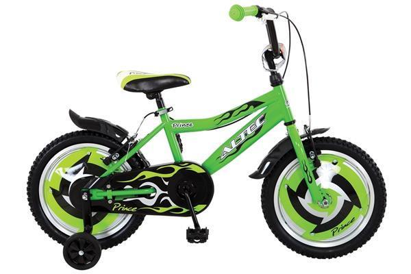 Grote foto prince 16 inch groen jongensfiets fietsen en brommers kinderfietsen