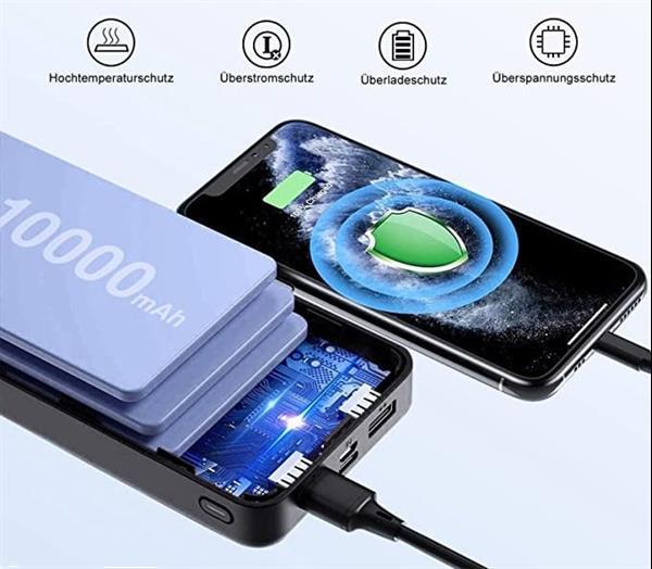 Grote foto powerbank 30.000 mah solar accu oplader zonnepaneel usb telecommunicatie opladers en autoladers