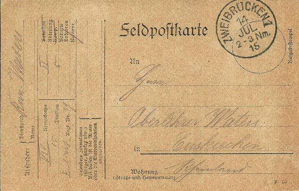 Grote foto 1915 arlon en zweibrucken 2 feldpostkarten postzegels en munten postzegels