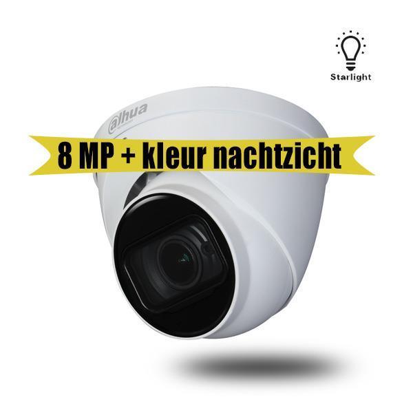 Grote foto 4k starlight systeem met 2x 4k camera en dvr audio tv en foto videobewakingsapparatuur