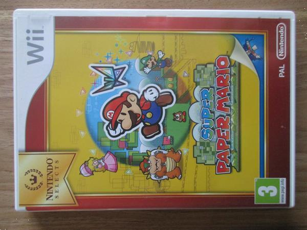 Grote foto wii game super paper mario spelcomputers games wii