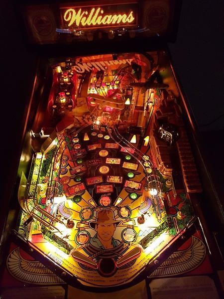 Grote foto williams flipper pinball indiana jones spelcomputers games sega