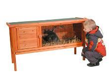 Grote foto konijnenhok roodoog 1 dieren en toebehoren hokken en kooien