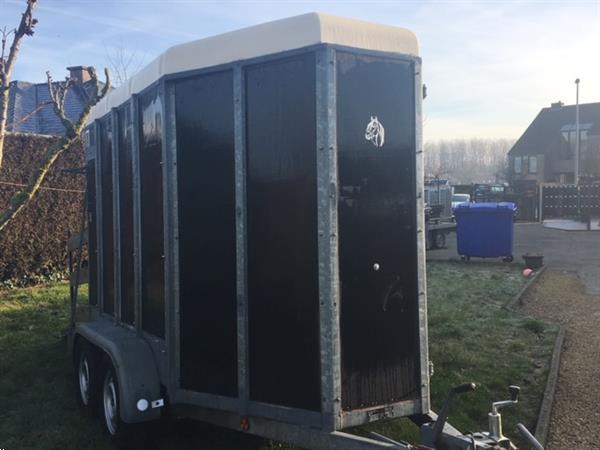 Grote foto decal voor 1 5 paard dieren en toebehoren trailers