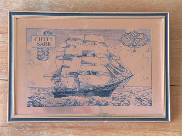 Grote foto afbeelding van de cutty sark koper. verzamelen scheepvaart