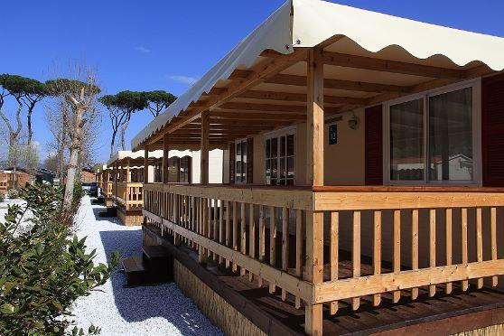 Grote foto camping aan zee toscane mobile home itali vakantie italie