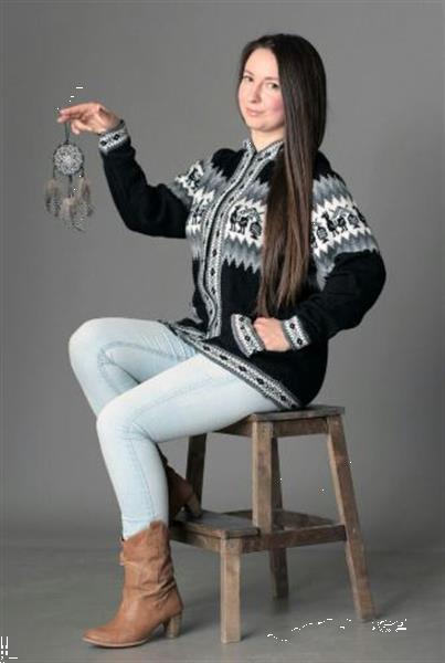 Grote foto dames peruaanse alpaca truien en vesten kleding dames truien en vesten
