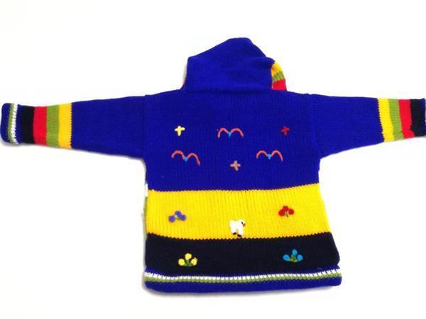 Grote foto koningblauw peru jasje peruaanse jasje kinderen en baby maat 56