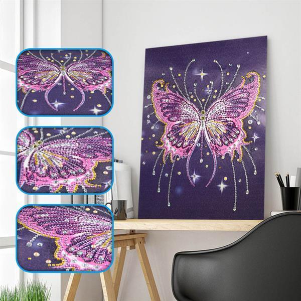 Grote foto diamond painting vlinder 30x40 cm. hobby en vrije tijd handwerkjes